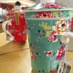 キュート!茶こし付きマグカップは1個持っとけば超便利。