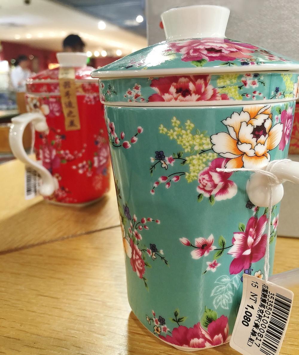 客家花布 柄 マグカップ
