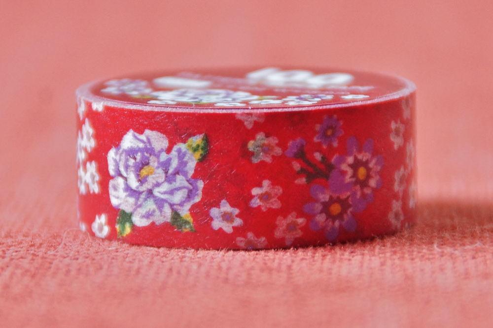客家花柄 マスキングテープ