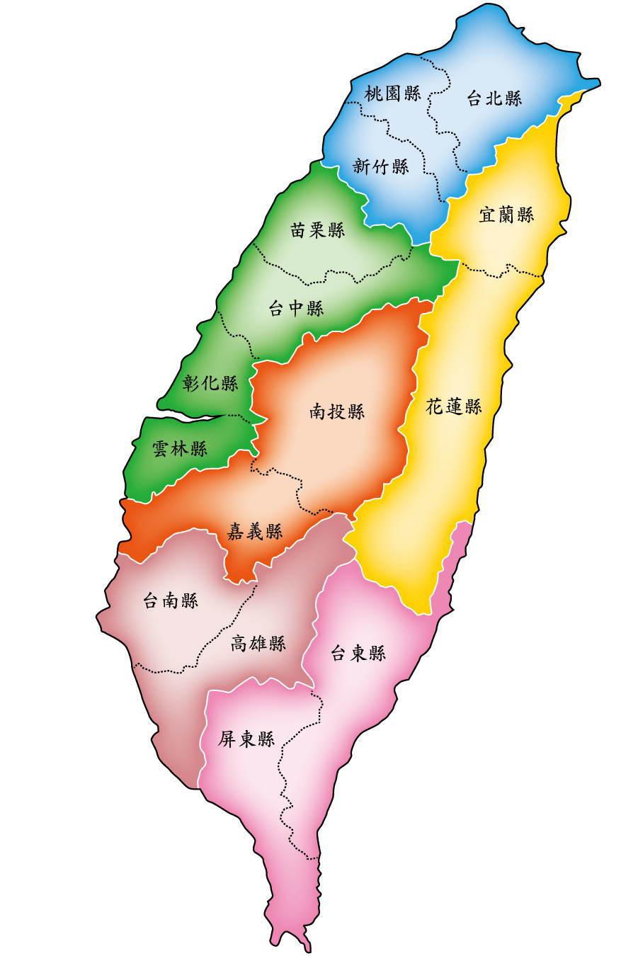 台湾の地図